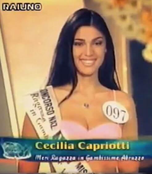 Cecilia Capriotti a Miss Italia 2000