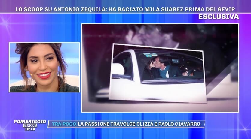 Mila Suarez bacio con Antonio Zequila