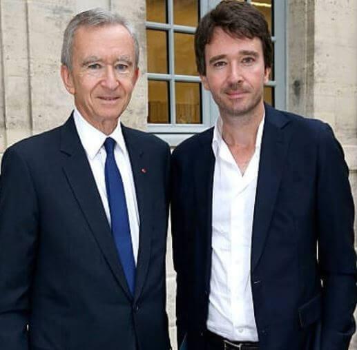 Bernard Arnault con il figlio antoine